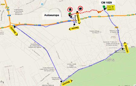 mapa auto europa CM Palmela / Estrada que liga o CM 1029 e a Circular Norte à  mapa auto europa